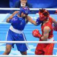 Estelle Mossely lors de la finale de boxe aux Jeux Olympiques de Rio. Le 19 août 2016.
