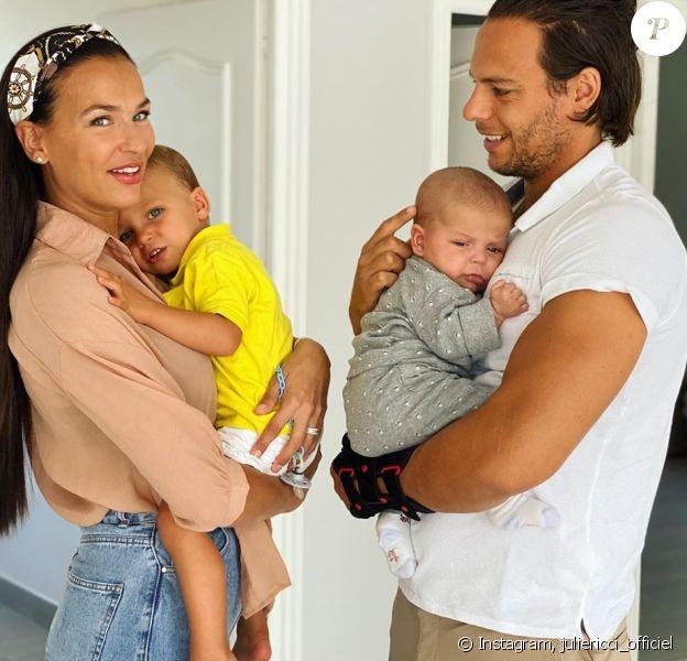 Julie Ricci et Pierre-Jean Cabrières avec leurs fils Gianni et Giovann