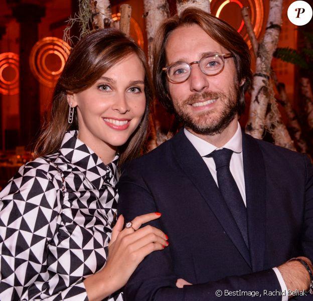 Exclusif - Ophélie Meunier et son mari Mathieu Vergne - Dîner de la Fondation ARC au Pavillon Cambon-Capucines à Paris. © Rachid Bellak / Bestimage