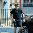 Exclusif - Joaquin Phoenix à la sortie de son cours de karaté à Los Angeles pendant l'épidémie de coronavirus (Covid-19), le 28 août 2020