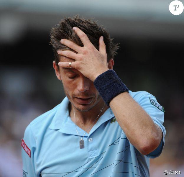 Nicolas Mahut à Roland-Garros à Paris, en juin 2012.