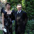 Alan Thicke et son épouse Tanya Callau arrivent au mariage de Khloe Kardashian et de Lamar Odom. 27/09/09