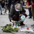 Hommages à Strasbourg le lendemain ou Samuel Paty (professeur d'histoire) a été décapité à Conflans-Sainte-Honorine le 17 octobre 2020. © Elyxandro Cegarra / Panoramic / Bestimage