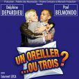 L'affiche de la pièce  Un oreiller... Ou trois ?  Avec Paul Belmondo et Delphine Depardieu
