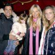 Filip Nikolic, sa fille Sasha, sa compagne Valérie et sa belle-fille Tanelle