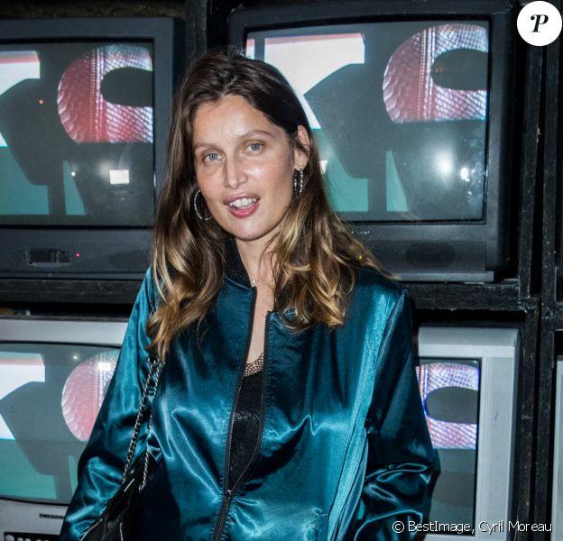 Exclusif - Laetitia Casta lors de la soirée de lancement du It bag 1440 IKKS à l'hôtel Amour à Paris. © Cyril Moreau / Bestimage