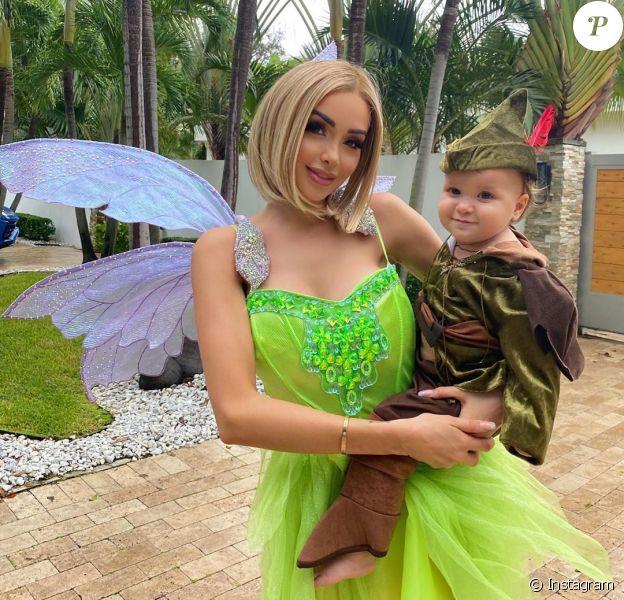 Nabilla et son fils Milann fêtent Halloween sur Instagram.