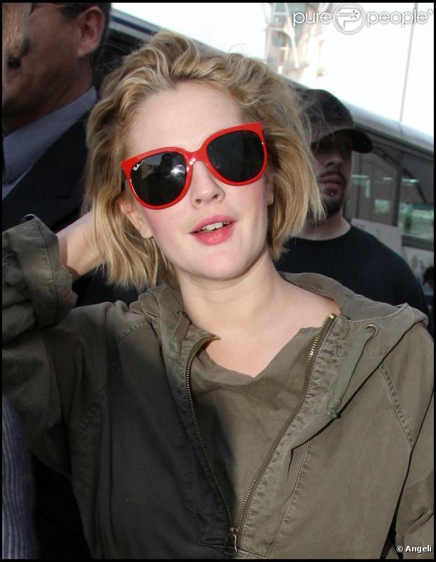 Drew Barrymore à l'aéroport de Los Angeles, le 30 septembre 2009