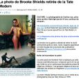 La photo de Brooke Shields retiré de l'exposition Pop Life à la Tate Modern à londres, le 1er octobre.