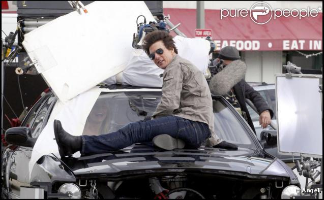 Tom Cruise sur le tournage de Wichita le 30 septembre 2009 à Boston