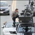 Tom Cruise en pleine cascade sur le tournage de Wichita à Boston le 1er octobre 2009