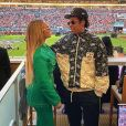 Beyoncé et Jay-Z assistent au Super Bowl LIV opposant les San Francisco 49ers aux Kansas City Chiefs, au Hard Rock Stadium. Miami, le 2 février 2020.