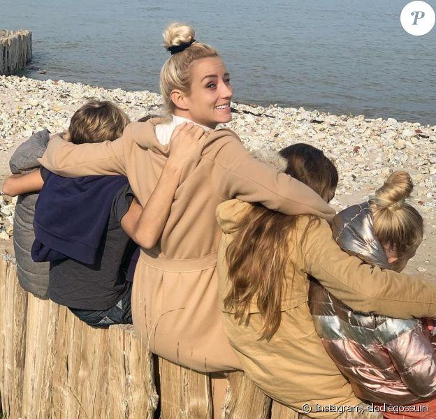 Elodie Gossuin et ses quatre enfants sur Instagram, automne 2020.