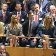 Tiffany Trump, Ivanka Trump, Jared Kushner, Lara Trump, Eric Trump en tribune lors de l'intervention du président Donald Trump pour la 73ème session de l'Assemblée générale à l'ONU à New York le 25 septembre 2018. © Morgan Dessalles / Bestimage USA