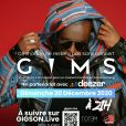 Gims sera en concert exceptionnel le dimanche 20 décembre 2020 sur la plateforme digitale Gigson.live, en partenariat avec Deezer !