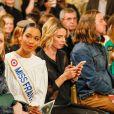 """Clémence Botino, Miss France 2020, Sylvie Tellier - People au défilé de mode Haute-Couture printemps-été 2020 """"La Métamorphose"""" à Paris. Le 21 janvier 2020. © Veeren Ramsamy-Christophe Clovis / Bestimage"""