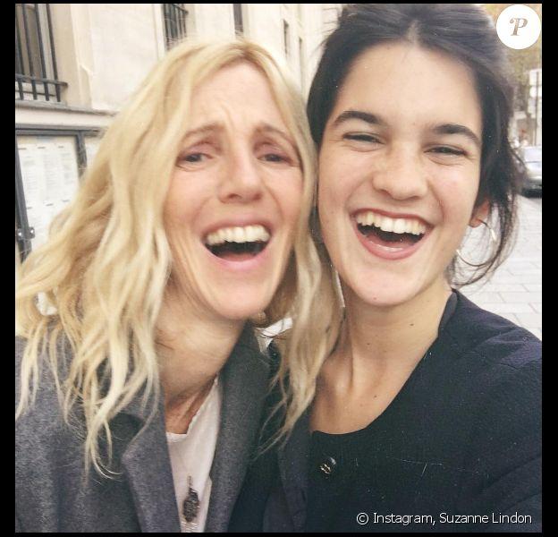 Sandrine Kiberlain et sa fille Suzanne Lindon sur Instagram.