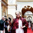 """Marianne James - Défilé """"Over Fifty... et alors !"""" à la galerie Vivienne à Paris le 17 Juin 2019. © Dominique Jacovides/Bestimage"""