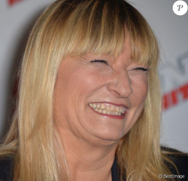 Christine Bravo - Conférence de presse de la grille de rentrée 2015/2016 des chaînes NRJ12, NRJ Hits et Chérie 25 à la Cour du Marais à Paris