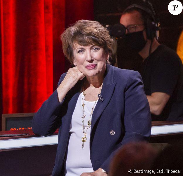 """Exclusif - Roselyne Bachelot, ministre de la Culture - Enregistrement de l'émission """"On Est Presque En Direct"""" (OEED), présentée par L.Ruquier © Jack Tribeca / Bestimage"""