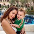 Nabilla avec son fils Milann (1 an) sur Instagram