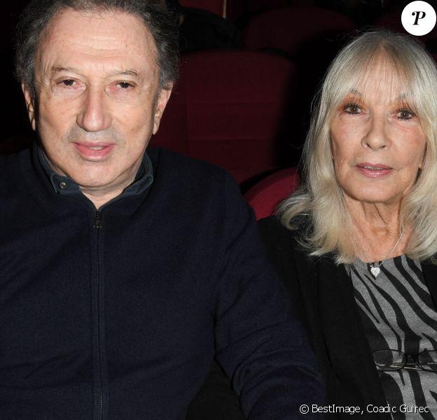 """Exclusif - Michel Drucker et sa femme Dany Saval - Projections de deux séances exceptionnelles du film """"Signé Furax"""" en hommage à Marc Simenon au cinéma Mac Mahon à Paris. © Coadic Guirec/Bestimage"""