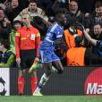 Demba Ba, alors joueur de Chelsea, avait éliminé le PSG en quarts de finale de la Ligue des Champions. Londres, le 9 avril 2014.