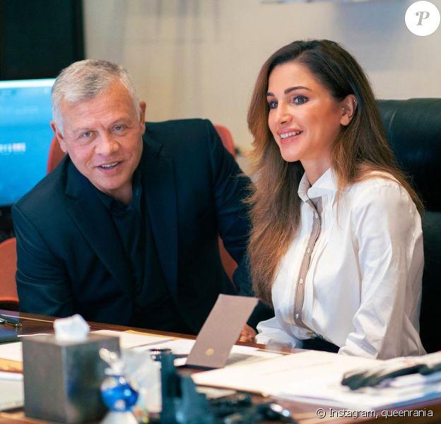 Rania de Jordanie et son mari le roi Abdallah II sur Instagram.