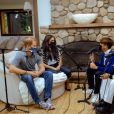 "Le prince Harry et Meghan Markle enregistrent le podcast ""Teenager Therapy"", octobre 2020."