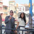 George Clooney et Amal Clooney après leur mariage civil à Venise le 27 septembre 2014 à Venise.
