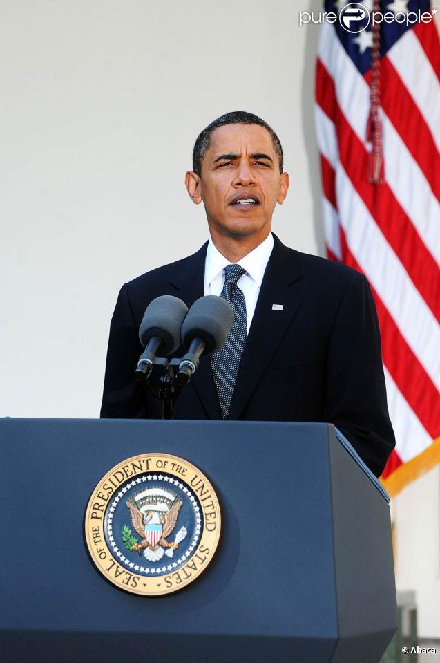 Barack Obama, lors de la conférence de presse suivant l'annonce de son Prix Nobel de la Paix, à Washington, le 9 octobre 2009 !
