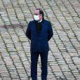 François Hollande ( ancien président de la Republique ) lors de l'hommage national rendu à Daniel Cordier aux Invalides à Paris le 26 novembre 2020. © Federico Pestallini / Panoramic / Bestimage