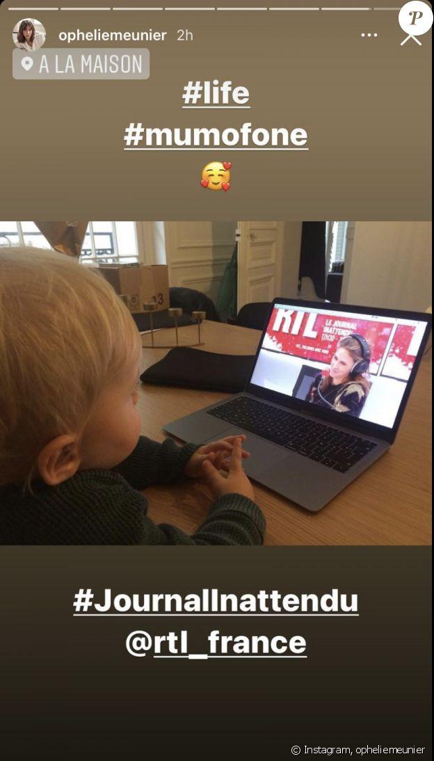 Joseph, le fils d'Ophélie Meunier, sur Instagram le 19 décembre 2020.