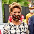 Laura Tenoudji Estrosi durant le 1er jour du Tour de France 2020 à Nice, le 29 août 2020. Un tour de France placé sous des mesures sanitaires strictes en période de COVID-19. © Bruno Bebert / Bestimage