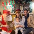 Eva Longoria, son mari José Antonio Baston, leur fils Santiago et le Père Noël en décembre 2019.