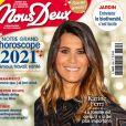 Karine Ferri en couverture du magazine Nous Deux, en kiosques depuis le 29 décembre 2020