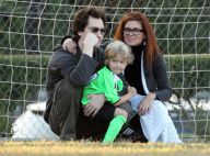 Quand Debra Messing et son mari admirent le jeu de jambes de leur fiston... Un futur Zizou !