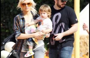 Christina Aguilera, sans maquillage, achète ses citrouilles d'Halloween avec... son chéri et son gamin !