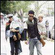 Gwen Stefani, ses fils et son mari à Hollywood le 11 octobre 2009