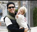 Gavin Rossdale et son fils Kingston à Hollywood le 11 octobre 2009