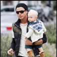 Gavin Rossdale et son fils Zuma à Hollywood le 11 octobre 2009
