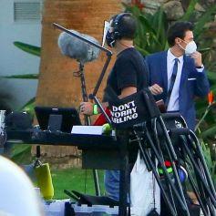 """Exclusif - Harry Styles sur le tournage du film """"Don't Worry Darling"""" à Palm Springs, le 1er décembre 2020."""
