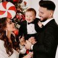 Nabilla Benattia et Thomas Vergara avec Milann à Noël, décembre 2020