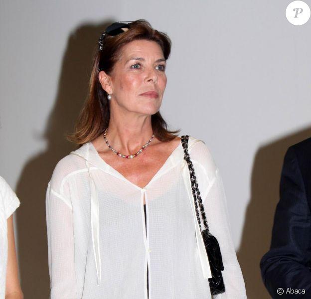 Caroline de Monaco, son frère le prince Albert II et l'artiste Su-Mei Tse, réunis pour le Palmarès 2009 de la Fondation Prince Pierre. 13/10/09