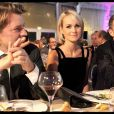 """François Baroin, Laetitia Hallyday et François Sarkozy au dîner organisé par """"C'est à vous"""", au profit de la Fondation des Hôpitaux de Paris-Hôpitaux de France. 14/10/09"""