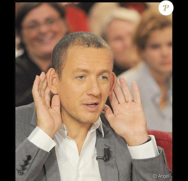 """Dany Boon à l'enregistrement de l'émission """"Vivement Dimanche"""", le 14/10/09"""
