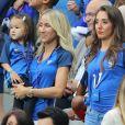 Sandra Evra et Tiziri Digne au match d'ouverture de l'Euro 2016, France-Roumanie au Stade de France, le 10 juin 2016. © Cyril Moreau/Bestimage10/06/2016 - Saint-Denis