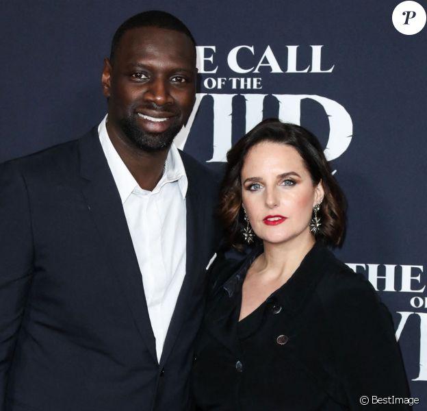 """Omar Sy et sa femme Hélène à la première du film """"The Call of the Wild"""" à Los Angeles"""