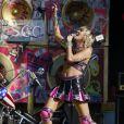 Miley Cyrus lors du concert TikTok Tailgate Party en marge du Super Bowl LV au Raymond James Stadium de Tampa, en Floride. Le 7 février 2021.