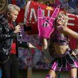 Billy Idol et Miley Cyrus lors du concert TikTok Tailgate Party en marge du Super Bowl LV au Raymond James Stadium de Tampa, en Floride. Le 7 février 2021.